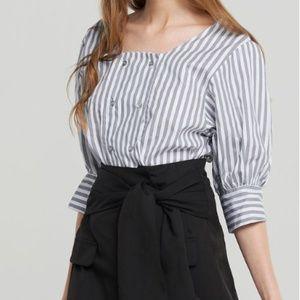 NWT - Storets - Paola Bold Stripe Blouse